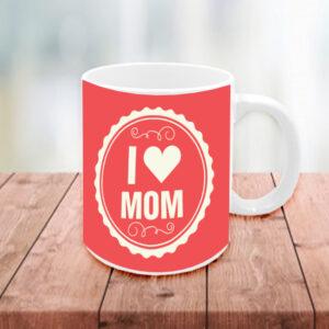 """Κούπα με φράση """"I LOVE MOM"""""""